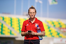 LARNACA, CYPRUS - Wednesday, March 7, 2018: Wales' Jessica Fishlock before the Cyprus Women's Cup match between Wales and Austria on day nine of the Cyprus Cup tournament at the AEK Arena - Georgios Karapatakis. (Pic by David Rawcliffe/Propaganda)