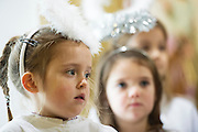 08/12/2014 Children from Fanore National school Evelyn McCarthy, Aine Hynes and Noelle Byrne performing the Nativity at the Church in Fanore Co. Clare   Photo:Andrew Downes