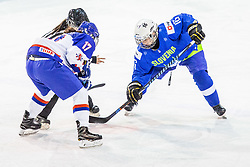 Breznik Tamara of Slovenia during hockey match between Slovenia and Great Britain in IIHF World Womens Championship, Division II, Group A, on April 4, 2018 in Ledena dvorana Maribor, Maribor, Slovenia. Photo by Ziga Zupan / Sportida