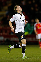 Matt Smith of Bristol City looks dejected after Crewe Alexandra win 1-0 - Photo mandatory by-line: Rogan Thomson/JMP - 07966 386802 - 20/12/2014 - SPORT - FOOTBALL - Crewe, England - Alexandra Stadium - Crewe Alexandra v Bristol City - Sky Bet League 1.