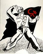 French anti-communist cartoon on the Spanish Civil War - 1936
