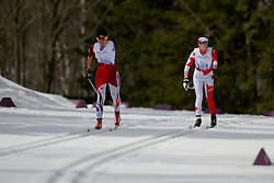 ABE Yurika, HUDAK Brittany competing in the Nordic Skiing XC Long Distance at the 2014 Sochi Winter Paralympic Games, Russia