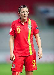 LLANELLI, WALES - Saturday, September 15, 2012: Wales' Helen Lander in action against Scotland during the UEFA Women's Euro 2013 Qualifying Group 4 match at Parc y Scarlets. (Pic by David Rawcliffe/Propaganda)