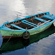 """This little fishing boat was in the harbor in Muros, Spain. The """"Celtic"""" region of Spain."""