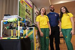 May 23, 2019 - San Juan, Puerto Rico, PR - San Juan, Mayo 23, 2019 - NEGOCIO - FOTOS para ilustrar una historia sobre el Foro Educativo de Microsoft en el Hotel Sheraton Convention Center. EN LA FOTO el profesor Samuel Carde–a junto a las estudiantes Jheddiemar Rivera y Alanis Mu–iz (Historia de PR a travŽs del lente de la rob—tica)..FOTO POR:  tonito.zayas@gfrmedia.com.Ramon '' Tonito '' Zayas / GFR Media (Credit Image: © El Nuevo Dias via ZUMA Press)