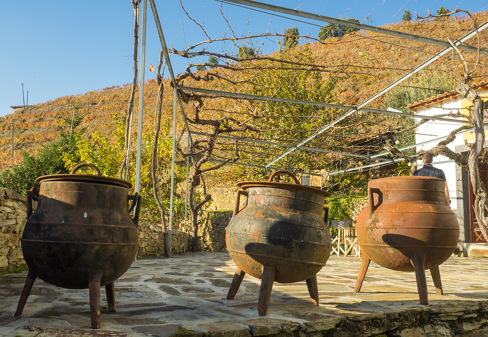 Old iron cooking pots