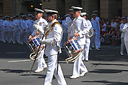 Australian Navy marching band in 2005 ANZAC day parade