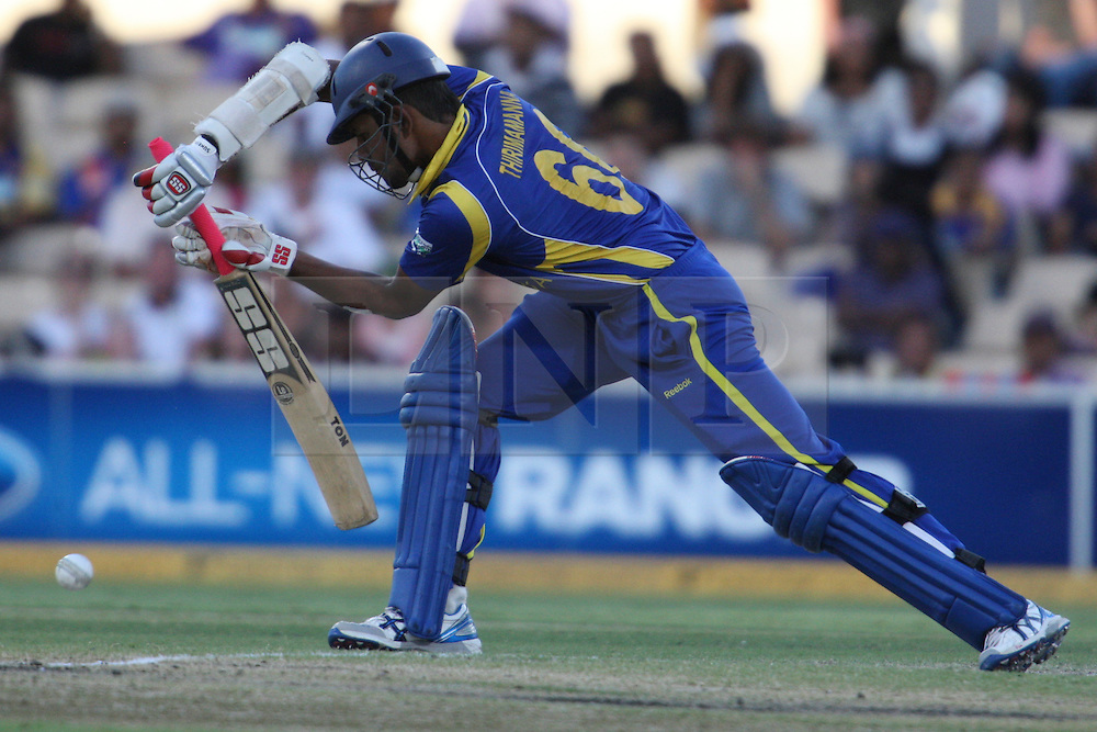 © Licensed to London News Pictures. 08/03/2012. Adelaide Oval, Australia. Lahiru Thirimanne plays a front foot defence shot during the One Day International cricket match final between Australia Vs Sri Lanka. Photo credit : Asanka Brendon Ratnayake/LNP