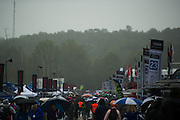 October 1- 3, 2015: Road Atlanta, Petit Le Mans 2015 - Fans in the paddock on a rainy day
