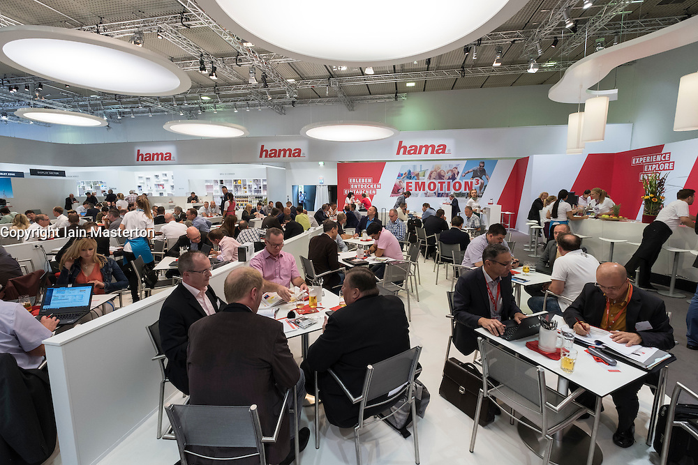 Corporate zone at Hama stand at 2016  IFA (Internationale Funkausstellung Berlin), Berlin, Germany