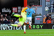 Artur Boruc (1) of AFC Bournemouth denies Raheem Sterling (7) of Manchester City a shot at goal during the Premier League match between Bournemouth and Manchester City at the Vitality Stadium, Bournemouth, England on 2 March 2019.