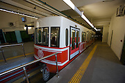 Istanbul. Tu?nel underground rack railway.