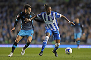 Brighton defender, full back, Gaetan Bong (12) during the Sky Bet Championship play-off second leg match between Brighton and Hove Albion and Sheffield Wednesday at the American Express Community Stadium, Brighton and Hove, England on 16 May 2016.