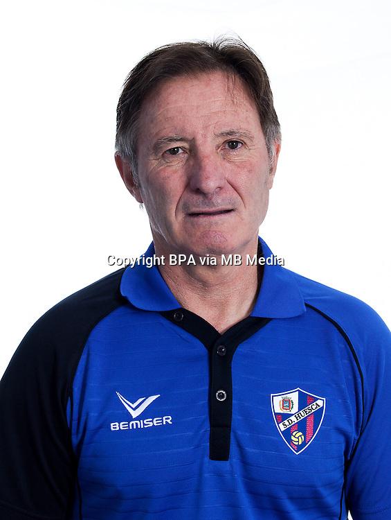 Spain - La Liga B 123 _ 2016-2017 / <br /> ( S.D. Huesca ) - <br /> Juan Antonio Albacete Anquela &quot; Juan Antonio Anquela &quot; DT - S.D. Huesca