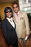 "l to r: Cicely Tyson and Stephen Byrd at b.michael America Spring 2010 Collection "" Advanced American Style "" held at Christie's in Rockefeller Plaza on September 16, 2009 in New York City."