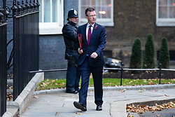 © Licensed to London News Pictures. 29/10/2018. London, UK. Secretary of State for Culture, Media and Sport Jeremy Wright QC arrives on Downing Street for a Cabinet meeting before Chancellor of the Exchequer Philip Hammond delivers the budget. Photo credit: Rob Pinney/LNP