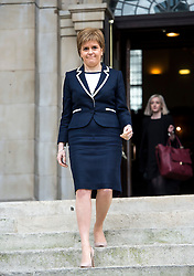 © Licensed to London News Pictures. 29/02/2016. London, UK. Leader of the SNP NICOLA STURGEON leaves St John's Smith Square in London after delivering a speech on the EU to think-tank, Resolution Foundation. Photo credit: Ben Cawthra/LNP