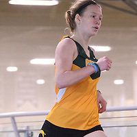 Justine Zarowny in action during the Cougars Track&Field Intersquad on November 19 at Centre for Kinesiology, Health and Sport. Credit: Arthur Ward/Arthur Images