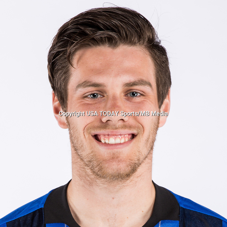 Feb 25, 2016; USA; Montreal Impact player Maxim Tissot poses for a photo. Mandatory Credit: USA TODAY Sports