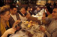 enjoying a Plateau Fruits de Mer (shellfish platter) at the Brasserie Wepler, PAris