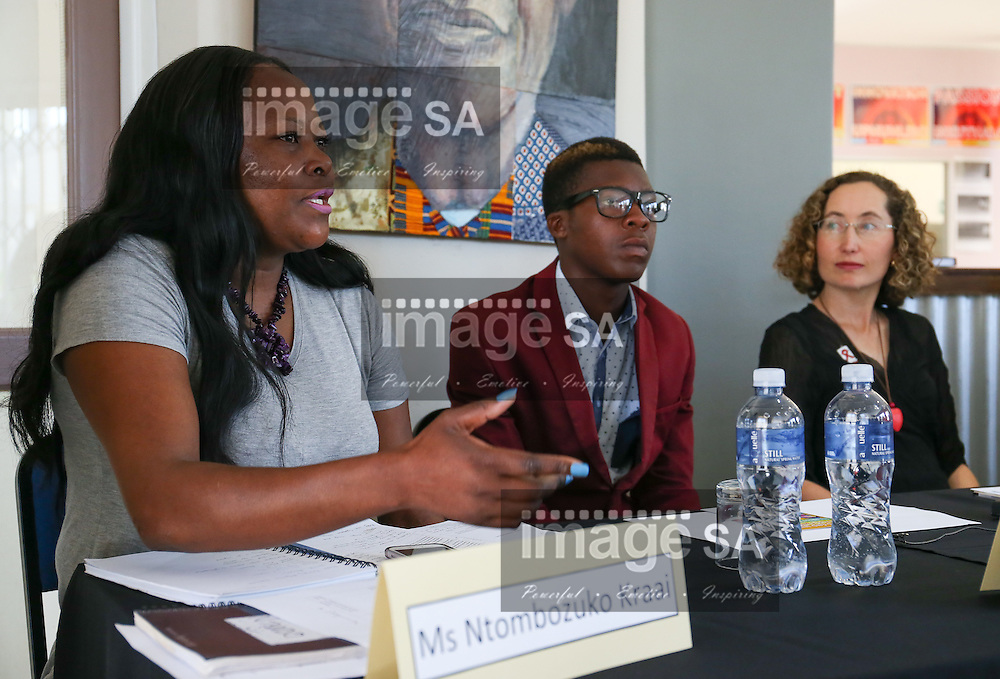CAPE TOWN, SOUTH AFRICA - Wednesday 30 November 2016, Ms Ntombozuko Kraai, a member of hehe Emavundleni Community Advisory Board, Mr Awethu Benenengu (20) is a participant in the HVTN 702 study and Dr Danielle Crida, Emavundleni&rsquo;s Principal Investigator for the HVTN 702 study during the launch of a major study to test the efficacy of a vaccine to prevent HIV infection at the Emavundleni Research Centre in Old Crossroads, Cape Town. With more than 1 000 people in South Africa becoming infected with HIV each day, a successful HIV vaccine is seen as the key to ending the epidemic. This new preventive vaccine efficacy trial, called HVTN 702, is a critically important study and its start is a special moment in HIV research. HVTN 702 is the only current HIV vaccine efficacy trial in the world and is being conducted solely in South Africa. It has been seven years since the world last saw the start of an efficacy trial of an HIV vaccine. The South African study will test a modified form of the vaccine regimen used in RV144, a trial conducted in Thailand, which reported in 2009 that the candidate vaccine was 31.2% effective in preventing new HIV infections 3.5 years after first vaccination. HVTN 702 builds on the foundation of the promising Thai trial findings and seeks to increase the level of efficacy and durability of the vaccine response. If HVTN 702 is shown to be effective against new infections, this South African trial could lead to the licensing of the world&rsquo;s first HIV vaccine.<br /> Photo by Roger Sedres/ImageSA