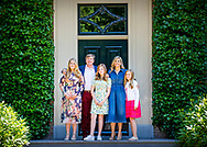 13-7-2018 WASSENAAR - King Willem-Alexander, Queen Maxima, Princess Catharina-Amalia, Princess Alexia and Princess Ariane during the annual royal photo session in the garden of Villa Eikenhorst. COPYRIGHT ROBIN UTRECHT