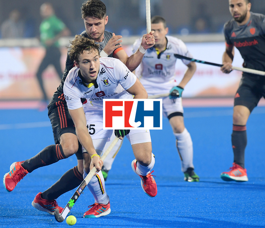 Odisha Men's Hockey World League Final Bhubaneswar 2017<br /> Match id:12<br /> Belgium v Netherlands<br /> Foto: Robbert Kemperman (Ned) in dual with Manu Stockbroekx (Bel) <br /> COPYRIGHT WORLDSPORTPICS FRANK UIJLENBROEK