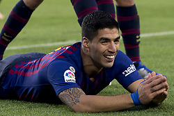 October 28, 2018 - Barcelona, Catalonia, Spain - Luis Suarez cellebrating his second score during the spanish league match between FC Barcelona and Real Madrid at Camp Nou Stadium in Barcelona, Catalonia, Spain on October 28, 2018  (Credit Image: © Miquel Llop/NurPhoto via ZUMA Press)