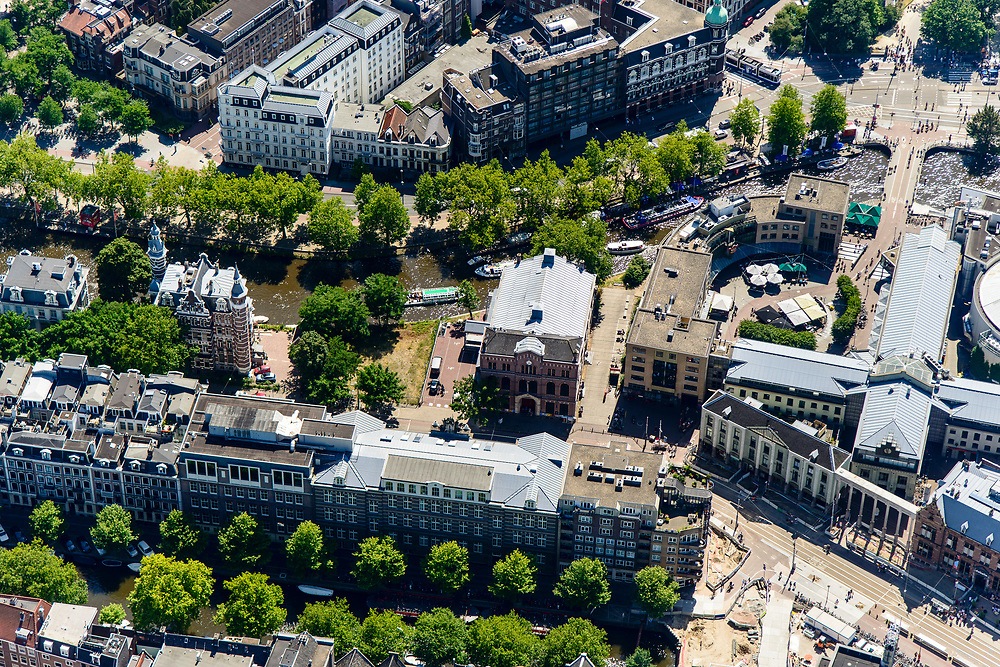 Nederland, Noord-Holland, Amsterdam, 29-06-2018; Kleine-Gartmanplantsoen met Weteringschans, Max Eeuweplein. De Balie, Paradiso.<br /> luchtfoto (toeslag op standard tarieven);<br /> aerial photo (additional fee required);<br /> copyright foto/photo Siebe Swart