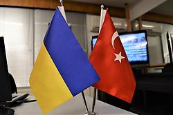 November 21, 2018 - Ankara, Turkey - Ukrainian and Turkish national flags are seen together during a celebration marking the Day of Dignity and Freedom in Ankara, Turkey on November 21, 2018. (Credit Image: © Altan Gocher/NurPhoto via ZUMA Press)