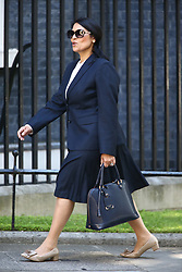 © Licensed to London News Pictures. 13/06/2017. London, UK. Priti Patel arrives at Downing Street for the second cabinet meeting in two days ahead of todays visit by DUP leader Arlene Foster. Photo credit: Andrew McCaren/LNP