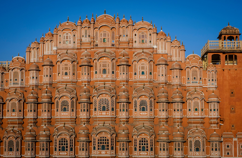 JAIPUR, INDIA - CIRCA NOVEMBER 2016: Hawa Mahal also known as the Palace of the Winds Jaipur, the Pink City, the Palace is a very popular torist attraction.