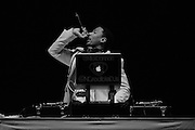 *Note: image has been converted to black and white* Nick Cannon performs prior to Mariah Carey Jupiters 2013 show at the Gold Coast Convention and Exhibition Centre on the Gold Coast, Tuesday, Jan. 1, 2013. (AAP Image/Matt Roberts) NO ARCHIVING