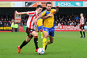 Ryan Jennings during the Vanarama National League match between Cheltenham Town and Altrincham at Whaddon Road, Cheltenham, England on 19 December 2015. Photo by Carl Hewlett.