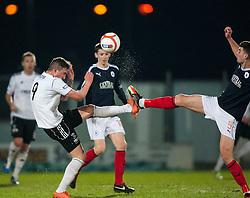 Livingston's Jordan Morton and Falkirk's Johnny Flynn..Falkirk v Livingston, 19/2/2013..©Michael Schofield.