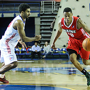 NBA D-LEAGUE BASKETBALL 2014 - DEC 12 Maine Red Claws defeats Delaware 87ers 98-94