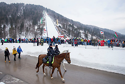 Police officers on horses during Ski Flying Hill Individual Competition at Day 4 of FIS Ski Jumping World Cup Final 2018, on March 25, 2018 in Planica, Ratece, Slovenia. Photo by Urban Urbanc / Sportida
