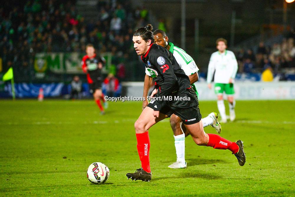 Elohim ROLLAND - 03.03.2015 - Boulogne / Saint Etienne - 1/4Finale Coupe de France<br />Photo : Dave Winter / Icon Sport