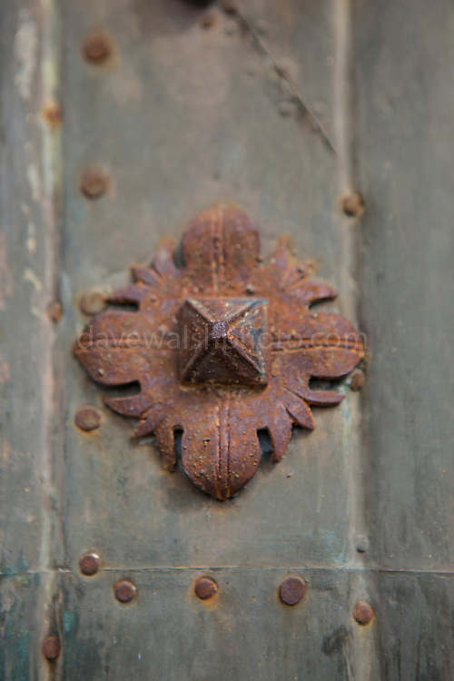 Door at the Cathedral of Saint Mary of Girona, Catalonia, Spain. (c) 20014 Dave Walsh
