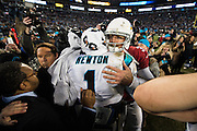 January 24, 2016: Carolina Panthers vs Arizona Cardinals. Cam Newton, Carson Palmer
