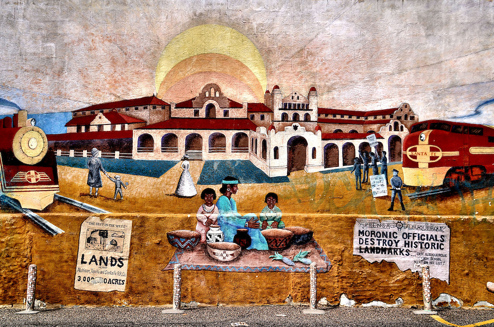Historic Monuments Mural in  Albuquerque, New Mexico<br />