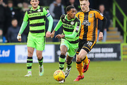 Forest Green Rovers Reece Brown(10) runs forward during the EFL Sky Bet League 2 match between Forest Green Rovers and Cambridge United at the New Lawn, Forest Green, United Kingdom on 20 January 2018. Photo by Shane Healey.
