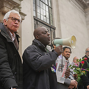 Speaker of Islington Stand Up to Racism against hate and in solidarity with the Muslim community of the outrageous 'Punish a Muslim Day' letter recently sent to homes across the country is yet another example of anti-Muslim hate crime which has doubled over the last year on the 3rd March 2018 at Islington Town Hall, London, UK.
