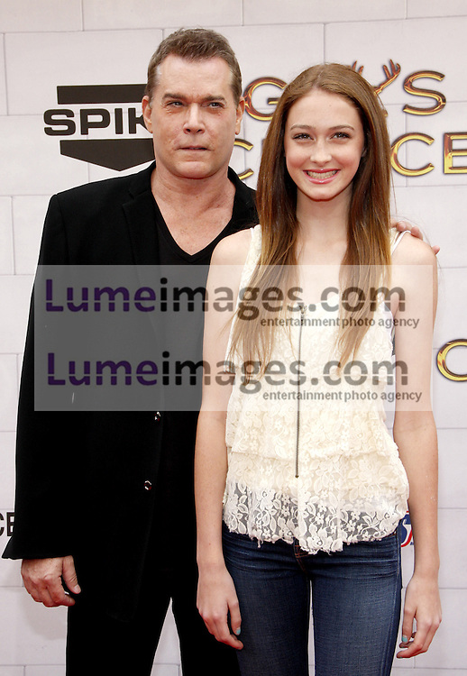 Ray Liotta and Karsen Liotta at the 2012 Spike TV's Guys Choice Awards held at the Sony Studios in Culver City on June 2, 2012. Credit: Lumeimages.com
