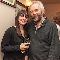 "Jack Harrison and Maria at the launch of the single ""shame on you"" by the residents of Bell Harbour at Daly's Bar on Friday night"