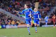Joe Bunney Celebrations during the Sky Bet League 1 match between Bradford City and Rochdale at the Coral Windows Stadium, Bradford, England on 20 February 2016. Photo by Daniel Youngs.