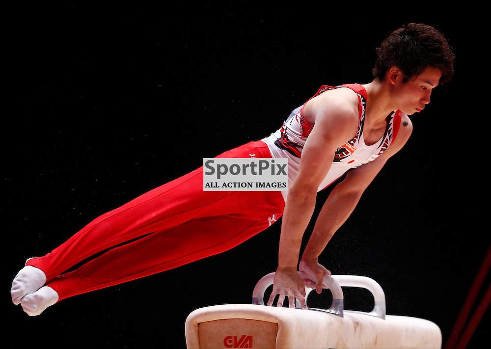 2015 Artistic Gymnastics World Championships being held in Glasgow from 23rd October to 1st November 2015....Japan's Naoto Hayasaka performs in the Pommel Horse competition in the Men's Team Final...(c) STEPHEN LAWSON | SportPix.org.uk