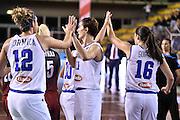 LUCCA 21 NOVEMBRE  2015<br /> BASKET NAZIONALE FEMMINILE<br /> ITALIA ALBANIA<br /> NELLA FOTO Raffaella Masciadri Formica Gaia Gorini<br /> FOTO CIAMILLO