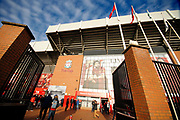 The Kop awaits the Premier League match between Liverpool and Manchester United at Anfield, Liverpool, England on 19 January 2020.