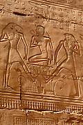 EGYPT, THEBES, KARNAK Ramses II joins Upper and Lower Egypt
